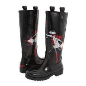 DKNY Niagara Wellington Rain Boots 8